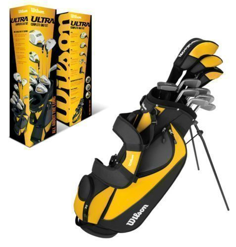 WILSON-ULTRA-Complete-Package-Right-Handed-Mens-Golf-Club-Set-w-Bag-WGGC25000