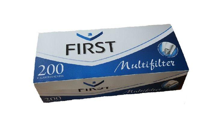 Tuburi tigari First Multifilter  Pretul este pentru 1 cutie cu 200 tuburi pentru tigari First multifiltru, cu carbon activ.  Ambalaj:            200 tuburi tigari/cutie  Culoare filtru:     alb  Lungime filtru:    15 mm  Lungime totala:   84 mm  Diametru:            8  mm
