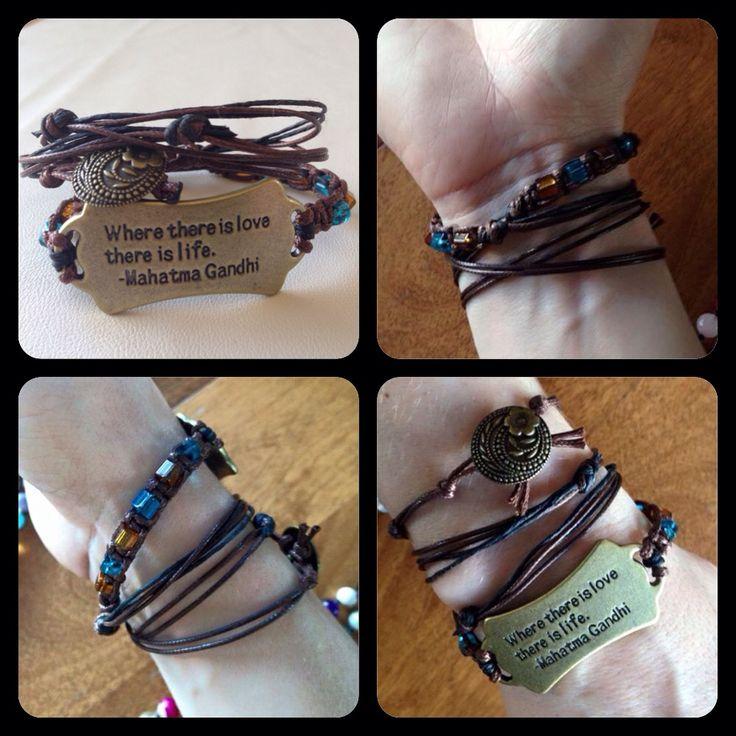 Wrap Bracelet.. Gandhi quote! https://www.facebook.com/JediJewellery