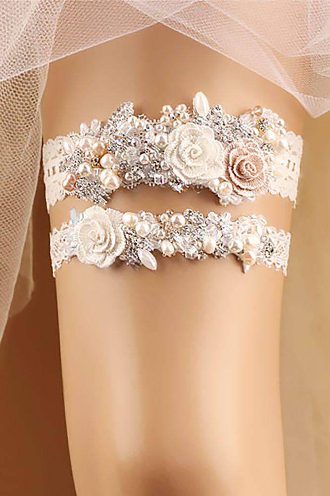 Exquisite Wedding Garters For Perfect Wedding Look ❤ See more: http://www.weddingforward.com/wedding-garters/ #weddings