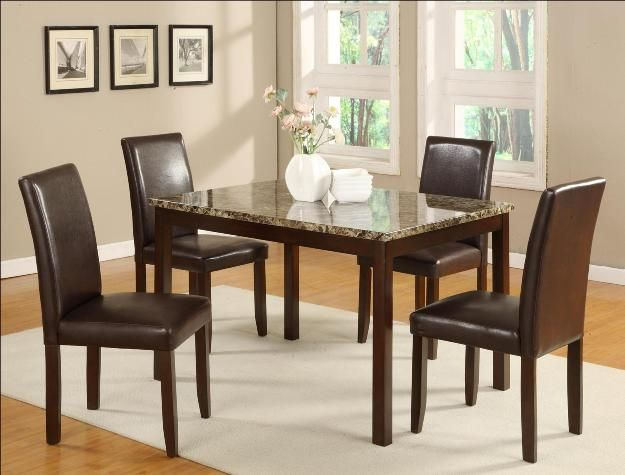 This 5 Piece Anise Dinette Set Will Add Sophistication To Your Dinner  Parties! Only $359