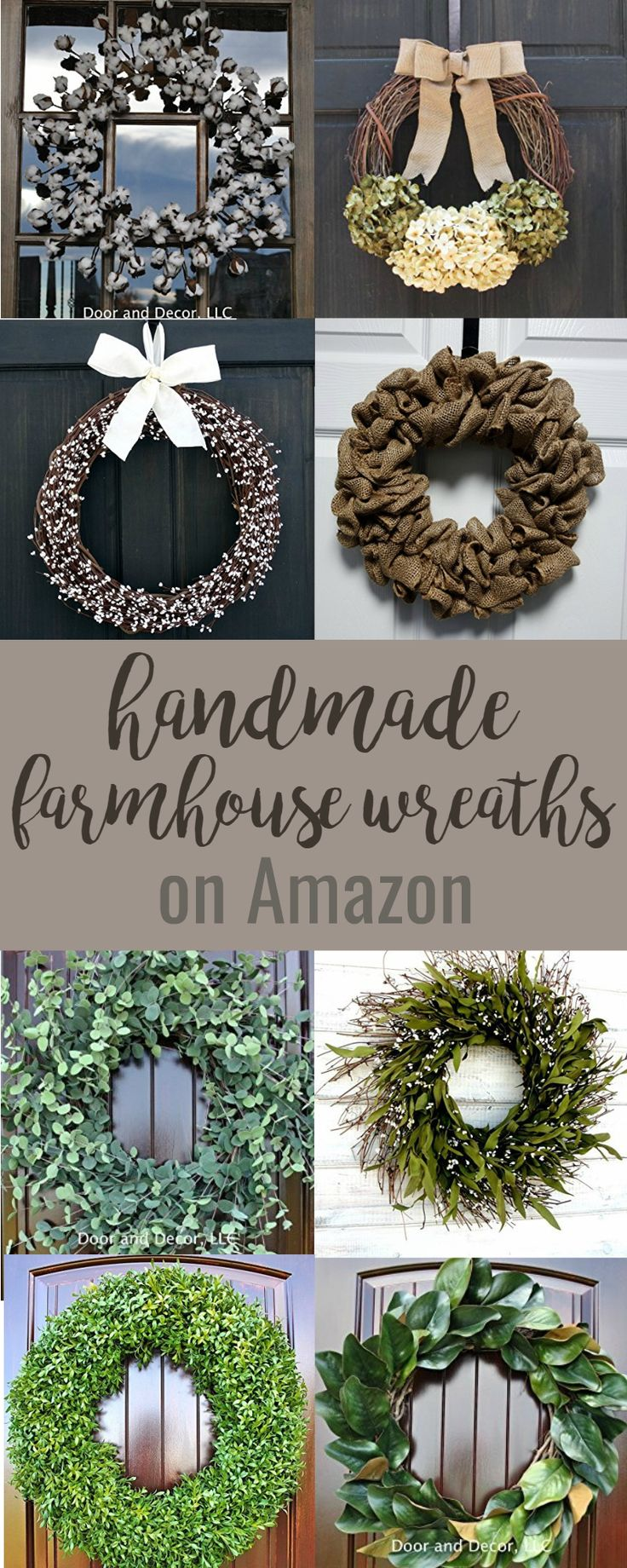 Handmade Farmhouse Wreaths {On Amazon}