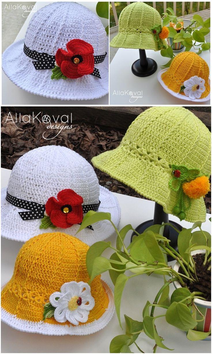 DIY Crochet Cute hats with Free Pattern