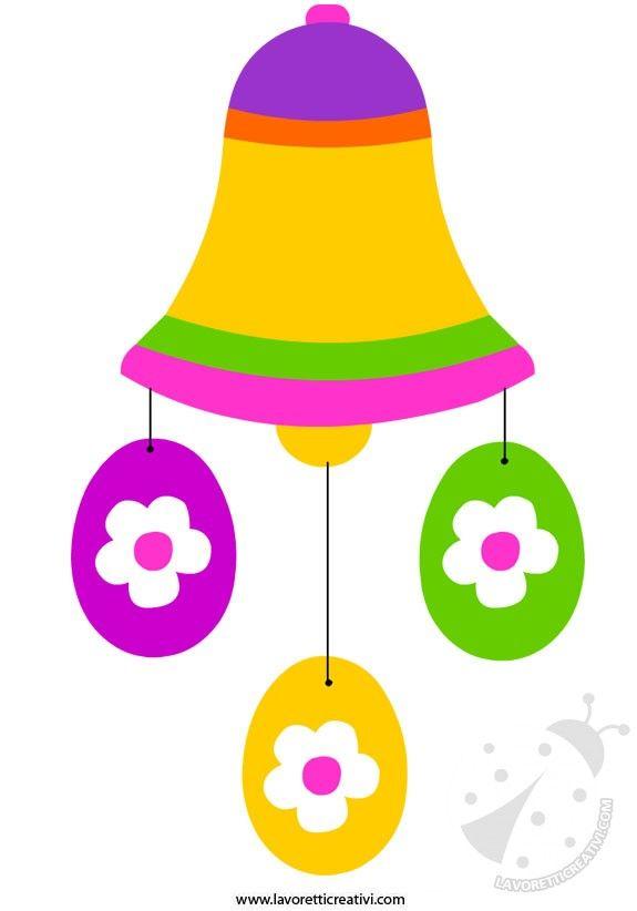 ADDOBBO PASQUALE Sagome utili per realizzare un addobbo da attaccare alle porte e ai vetri delle finestre di scuola o di casa nel periodo di Pasqua.
