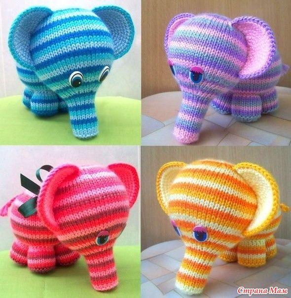 Начинаем вязать слона опрос проходил тут http://www.stranamam.ru/  я буду вязать такими ниточками это описание а вот я уже начала вязать туловище