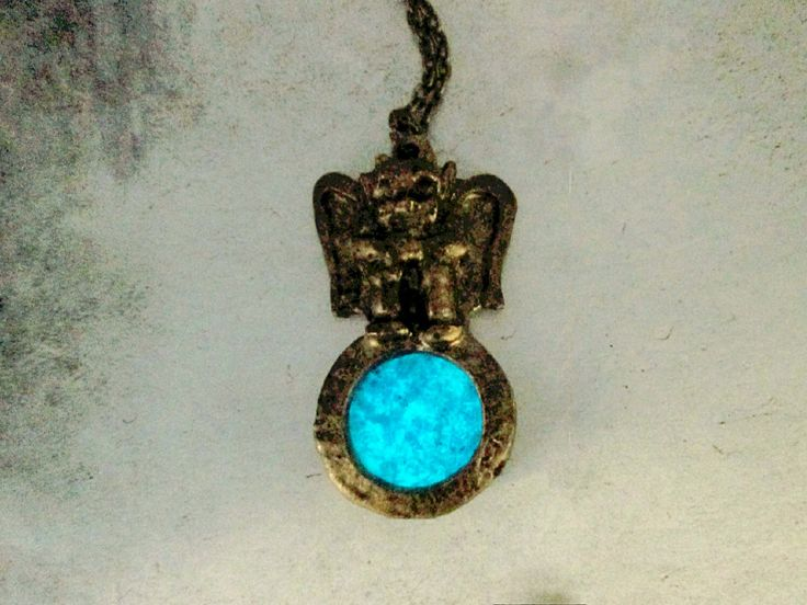 A personal favorite from my Etsy shop https://www.etsy.com/ca/listing/271253703/glow-in-the-dark-moon-gargoyle-necklace