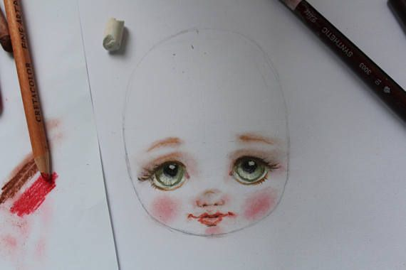 Tutorial: draw the face of the doll