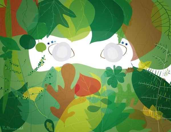 girl leaf by mentachip.deviantart.com on @deviantART