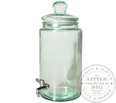 Glass Beverage Dispenser | Beverage Dispensers | Homewares | The Little Big Company Pty Ltdparty, glass bottles, swizzle sticks, beverage dispenser, birthday, gift, rock candy