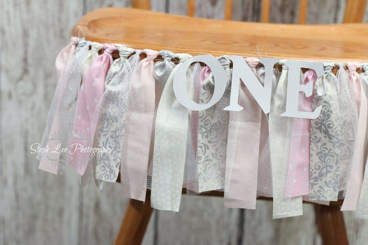 What a great way to personalize your little princesss birthday! Textured fabric strip banner, approximately 3 long with coordinating fabric strips and with or without cardstock age attached. **Can be CUSTOMIZED for ANY age anto match your colors or theme** Use it on the front of your childs high chair or as a backdrop for your cake / dessert table. Can also double as a prop for Little Ones 1 Year Photo Session! Makes a great addition to your party decor and your cake smash photo shoot!  ...