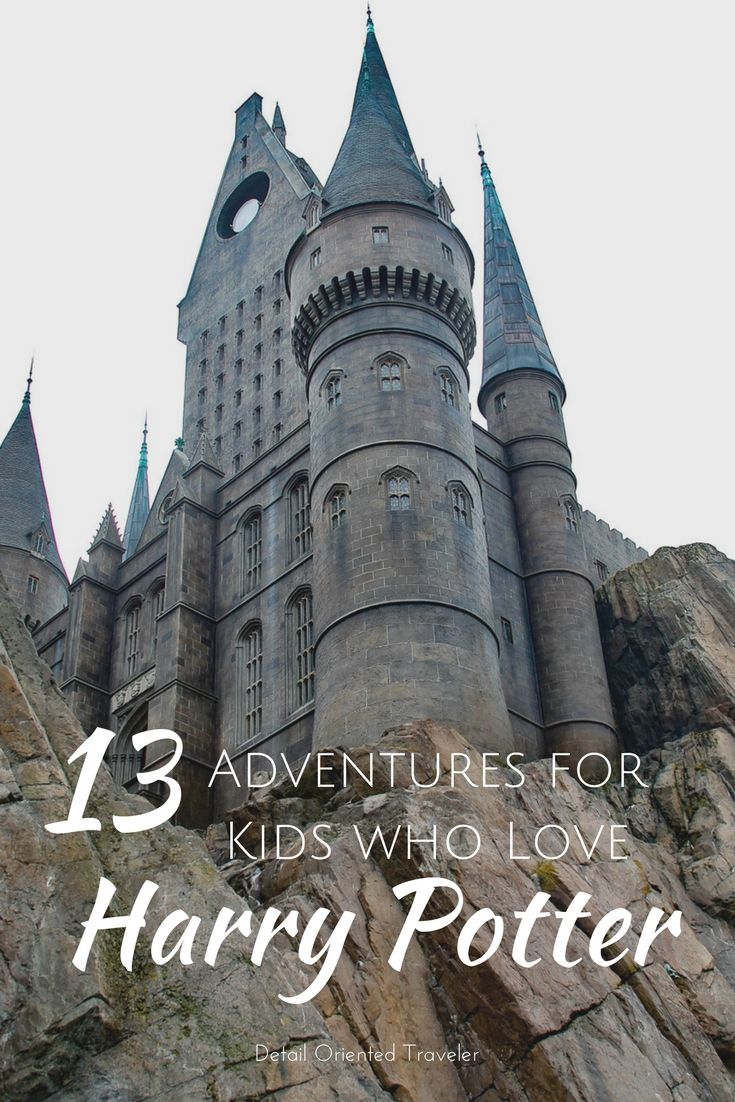 13 Family Travel Adventures for kids who love Harry Potter. #harrypotter #travel #familytravel