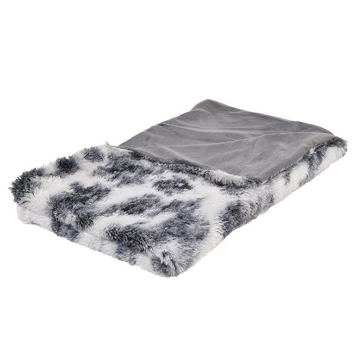 SYNTHETIC FUR THROW IN WHITE-BLUE COLOR 150X180 - Furs - FABRIC ITEMS