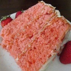 White Chocolate Strawberry Cake - Allrecipes.com