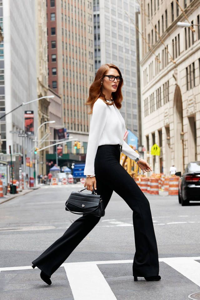 Black and white is always right, the best in fall workwear, here: