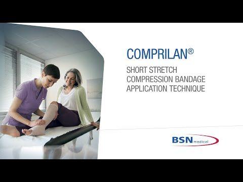 Comprilan Short Stretch Compression Bandage Application Technique - YouTube