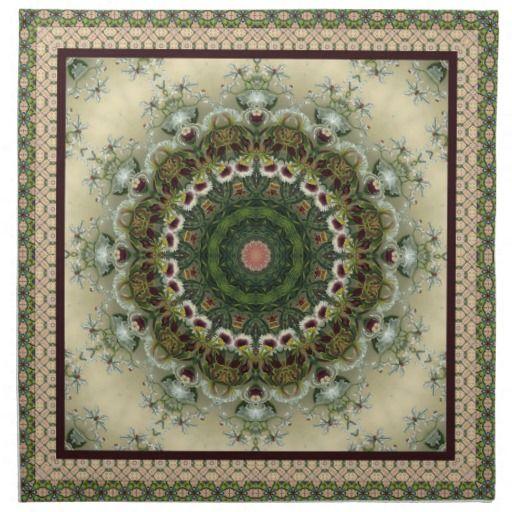 Lovely Soft Green Mandala