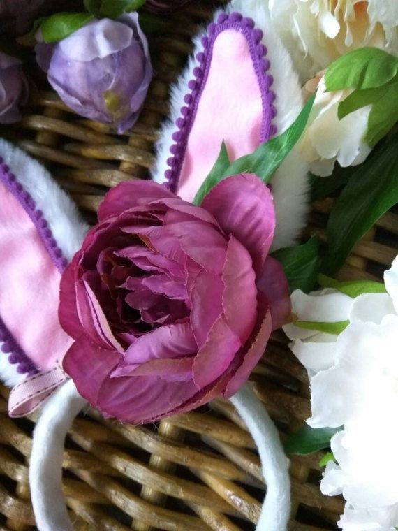 Check out this item in my Etsy shop https://www.etsy.com/uk/listing/497795896/purple-peony-bunny-ears