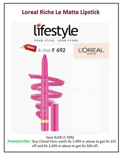 #Loreal #Riche #Le #Matte #Lipstick  #Colour: Forme-Pink #Price: ₹692.00