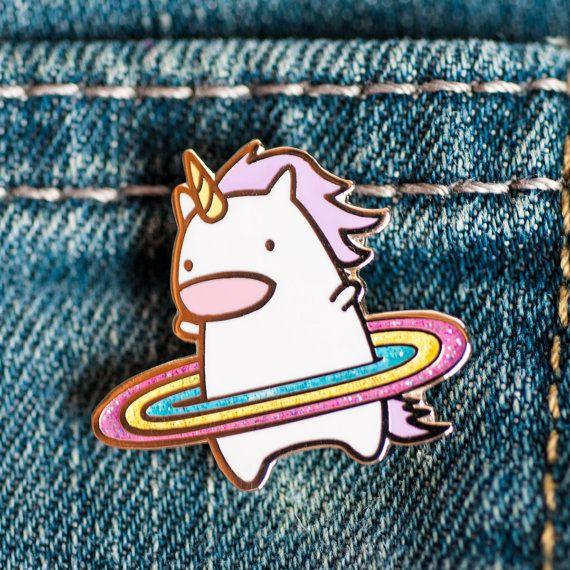 Unicorn enamel pin cute enamel pin unicorn by RobotDanceBattle