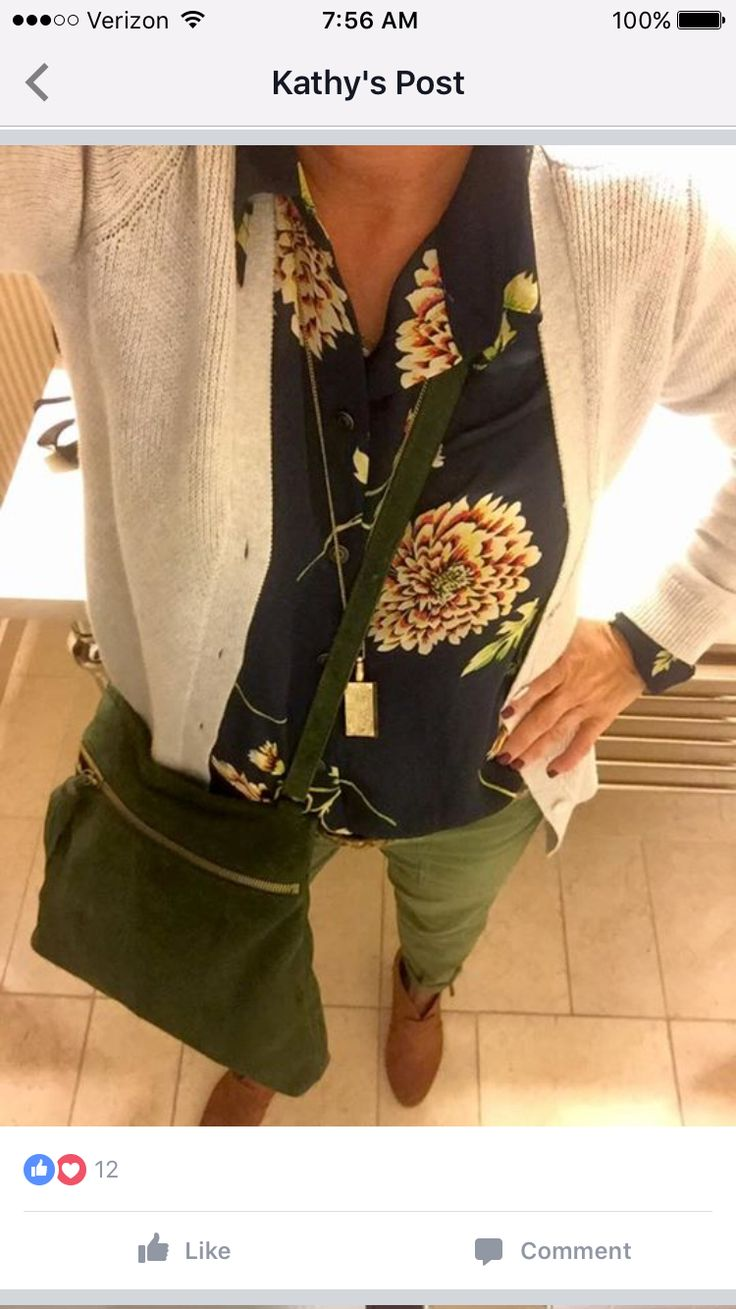 Cabi collection- Daisy Blouse, shirttail cardi, Zelda necklace- all available thru Dec 2016. Vintage traveler trouser.  See/order them at CarlaBobka.cabionline.com