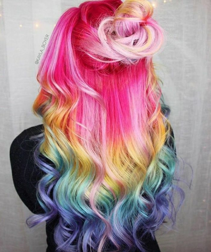 ▷ 1001+ ideas for colorful hair. Colorful hair colors are always up to date!