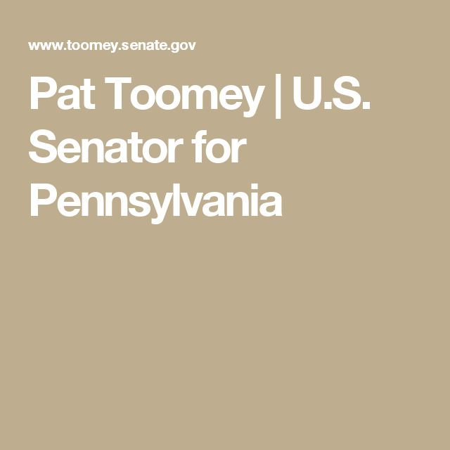 Pat Toomey | U.S. Senator for Pennsylvania