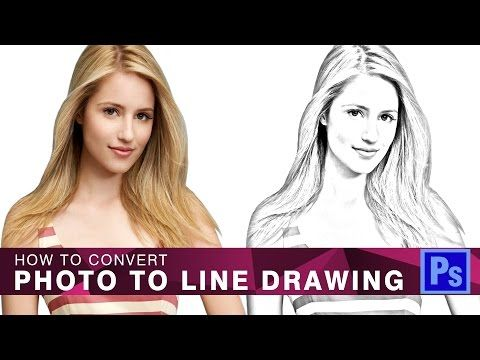 New} How to Convert Photo to Line Drawing in Photoshop - YouTube