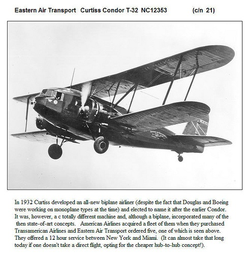 Eastern Airlines Curtiss Condor T-32