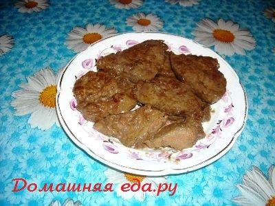 Говяжья печень в горчично-соевом соусе