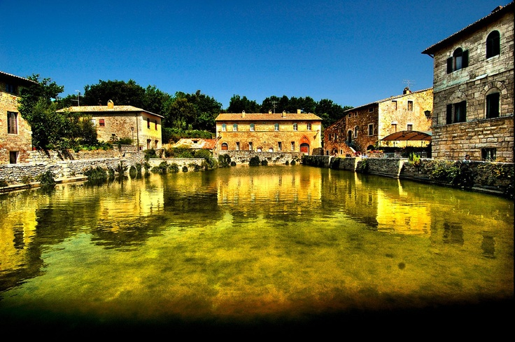 Thermally heated square of Bagno Vignoni in Tuscany...mmm...Tuscany!