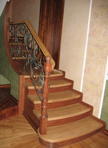 these wood stair treads can be used alone or in a combination with hardwood stairs and