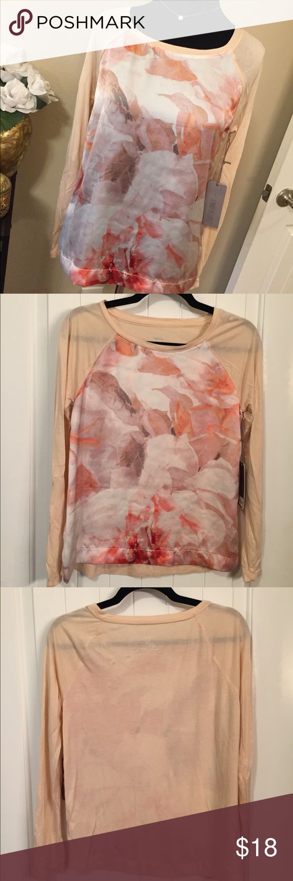 NWT JLo Floral Long Sleeve Top Jennifer Lopez pink floral top with long sleeves. Size Small. Very soft!! Front of top is a silky like material while back and sleeves are a soft knit material. BRAND NEW WITH TAGS! :) Jennifer Lopez Tops Blouses