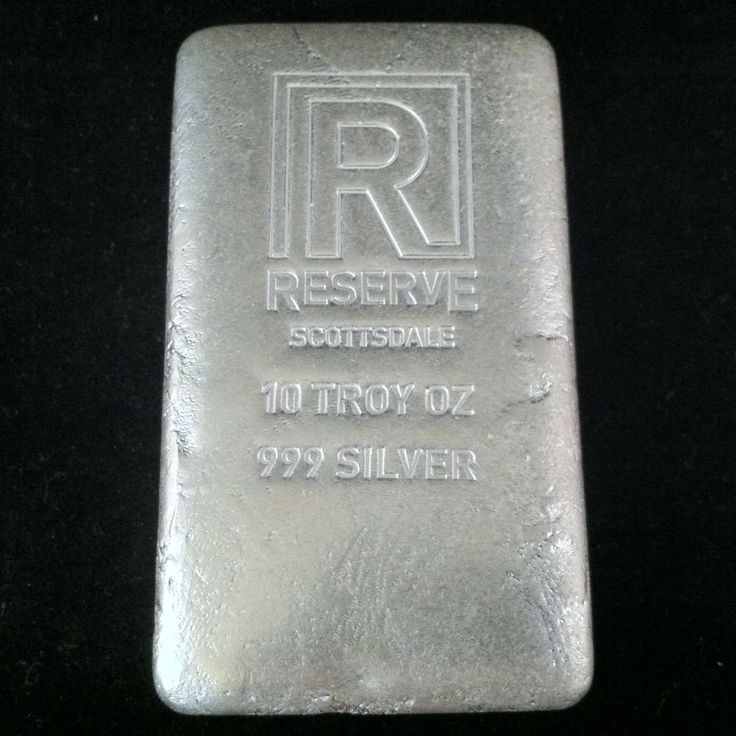 10 Troy Oz Ounce 999 Fine Silver Hand Poured Cast
