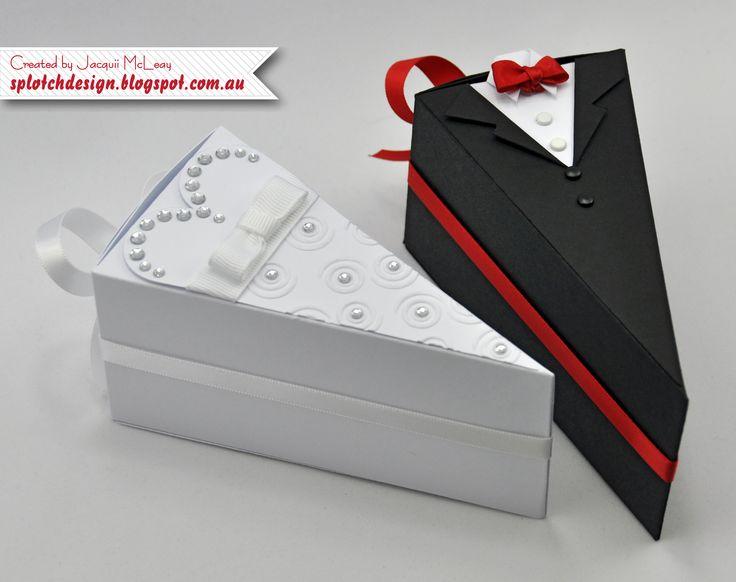 Splotch Design - Jacquii McLeay - Stampin Up - Wedding Cake Boxes