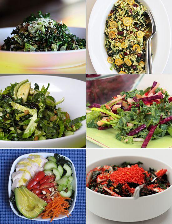 26 crave worthy kale salads ensaladas de todo y recetas - Cocinar col kale ...