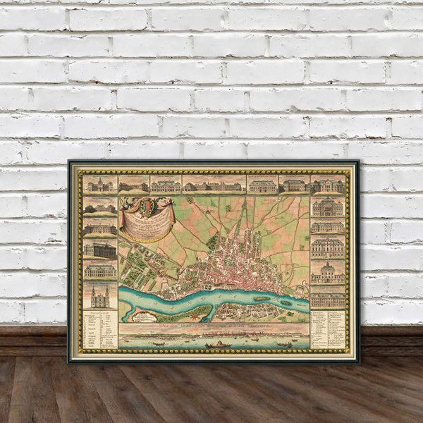 Warsaw Old Map Carte De Varsovie Stare Mapy Warszawy Fine Print ($32) ❤ liked on Polyvore featuring home, home decor, wall art, home & living, home décor, silver, quote wall art, map wall art, typography wall art and map home decor