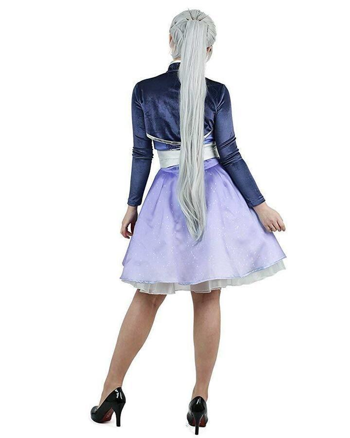 b8434819a87b4 Miccostumes Women's Volume 4 Weiss Schnee Cosplay Short Dress #apos ...