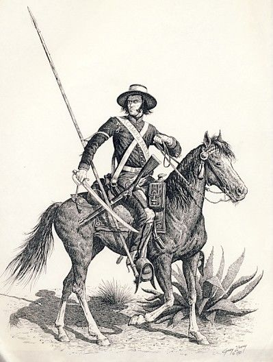Mexican Army 1820's - 1830's Presidial Trooper
