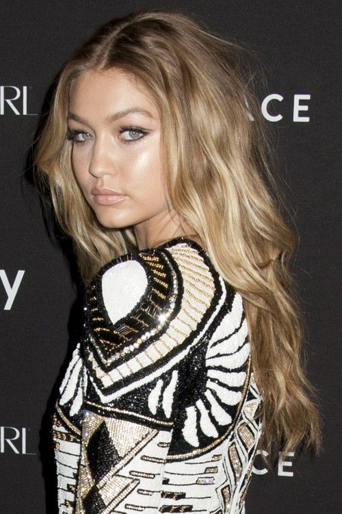 Gigi Hadid seen at 2015 Harper's Bazaar Icons Event at the Plaza Hotel in New York City