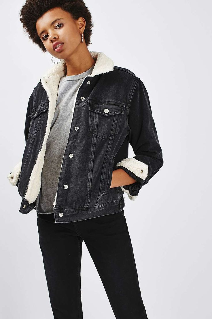 Topshop MOTO Denim Western Oversized Jacket