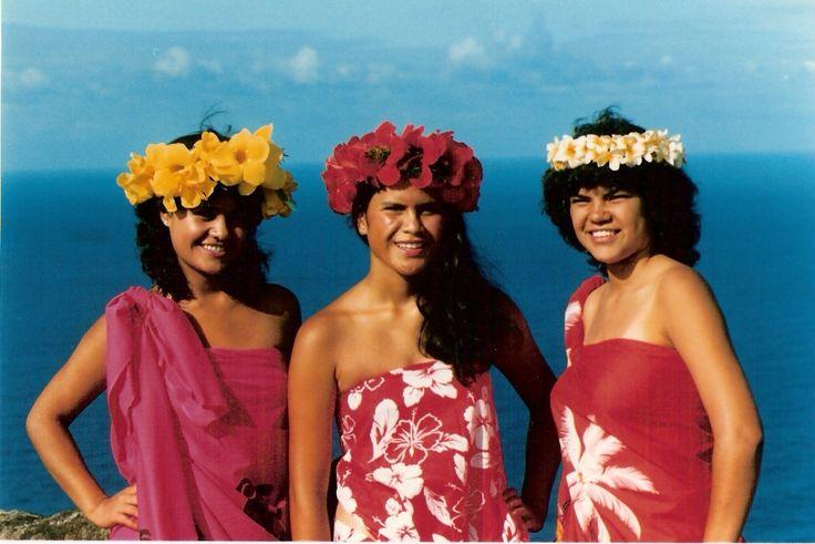 Candidatas a reina de Tapati Rapa Nui.