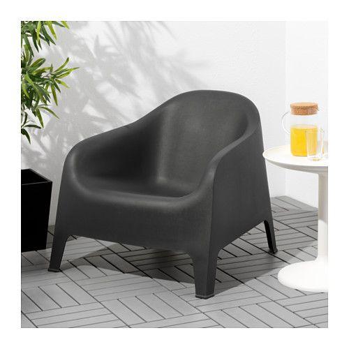 SKARPÖ Fauteuil, buiten - grijs, - - IKEA