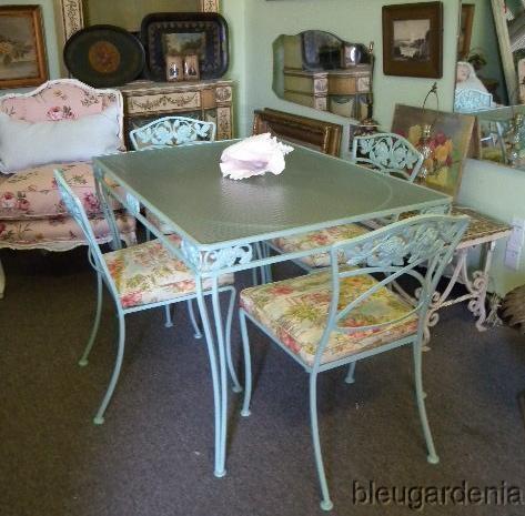 Best Vintage Wrought Iron Aluminum Patio Furniture Images On - Woodard aluminum patio furniture