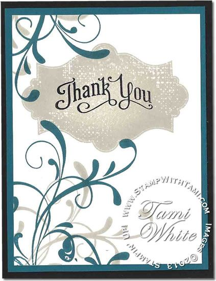 CARD: Thank you from Everything Eleanor | Stampin Up Demonstrator - Tami White - Stamp With Tami Stampin Up blog