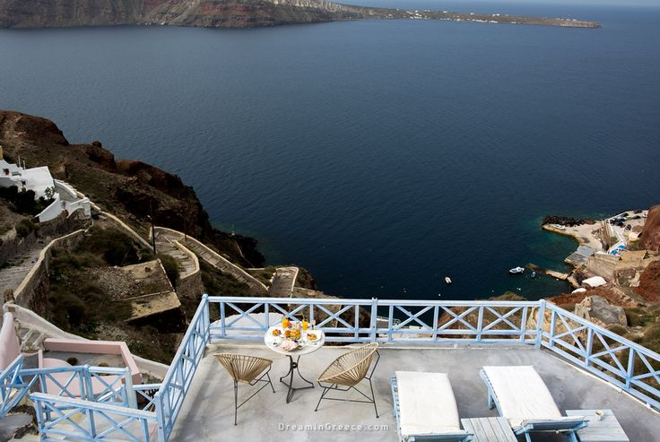Balcony - Kastro Oia Houses and Restaurant in Santorini island Greece. Photo taken by Dimitris Evangelopoulos @dimevaggelo  Check out this amazing Hotel > http://www.dreamingreece.com/santorini/kastro-oia-houses-restaurant-hotels-in-greece  #dreamingreece #oia #santorini #greece #travel #travelguide #vacation #holidays #destination #beaches #greekbeaches #photography #greekislands #greekhotels #balcony