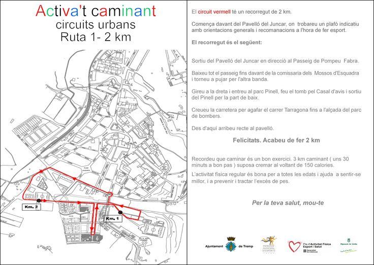 #Tremp Circuïts Urbans Actíva't - Circuït vermell 2 km