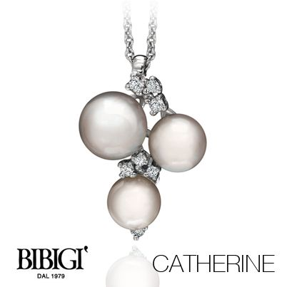 #Bibigi | Collezione #Catherine | Collana in oro bianco, perle e diamanti