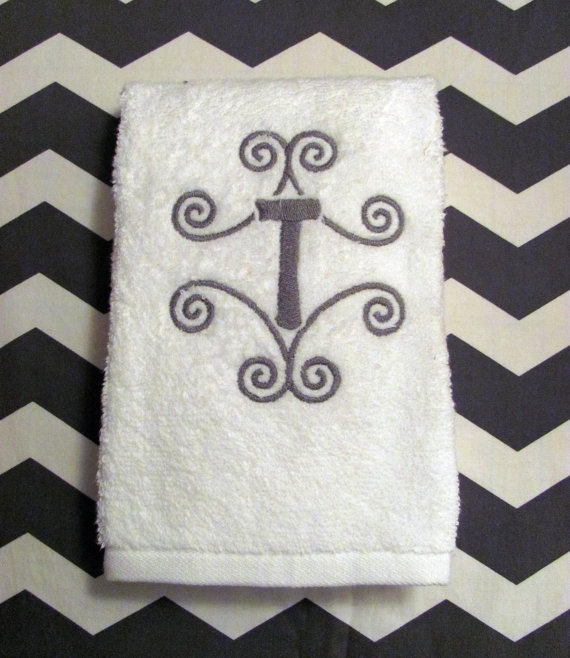 Unique Monogrammed Hand Towels Ideas On Pinterest - Monogrammed bath towels for small bathroom ideas
