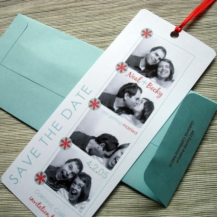 Idea: Place Tiffany blue envelopes on place mats, letting people know about the photo booth. They can keep their pics in the envelope :)