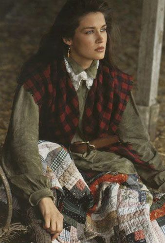 Ralph Lauren - LOVE this look even though this was shot 20+ yrs ago! All about layers.